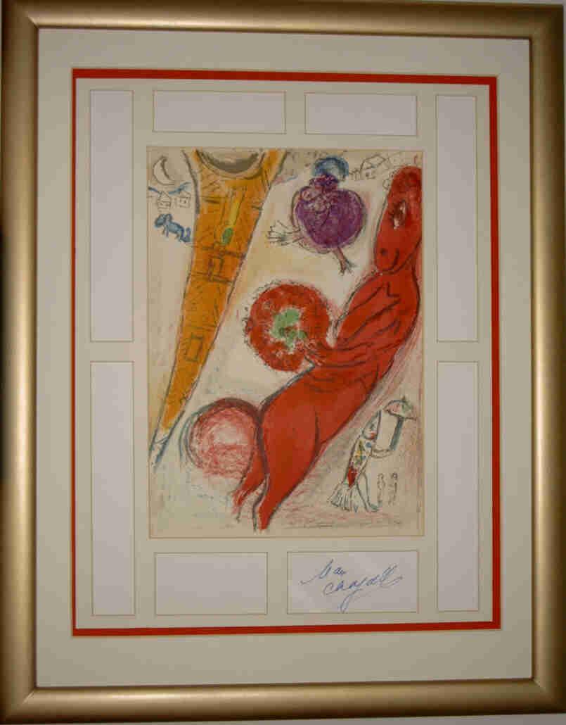 internet kunstausstellung internet art exhibition marc chagall signierte original. Black Bedroom Furniture Sets. Home Design Ideas